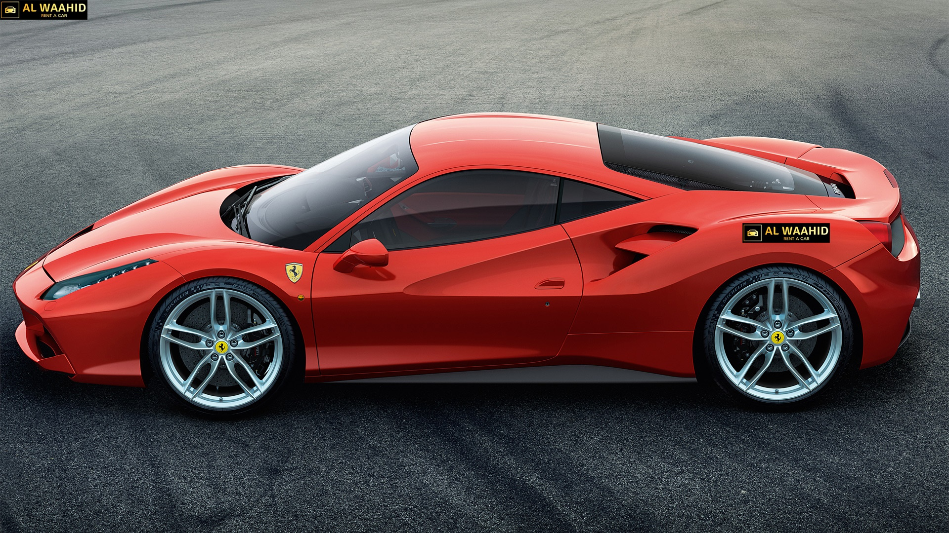 FERRARI 488 GTB luxury car rental dubai