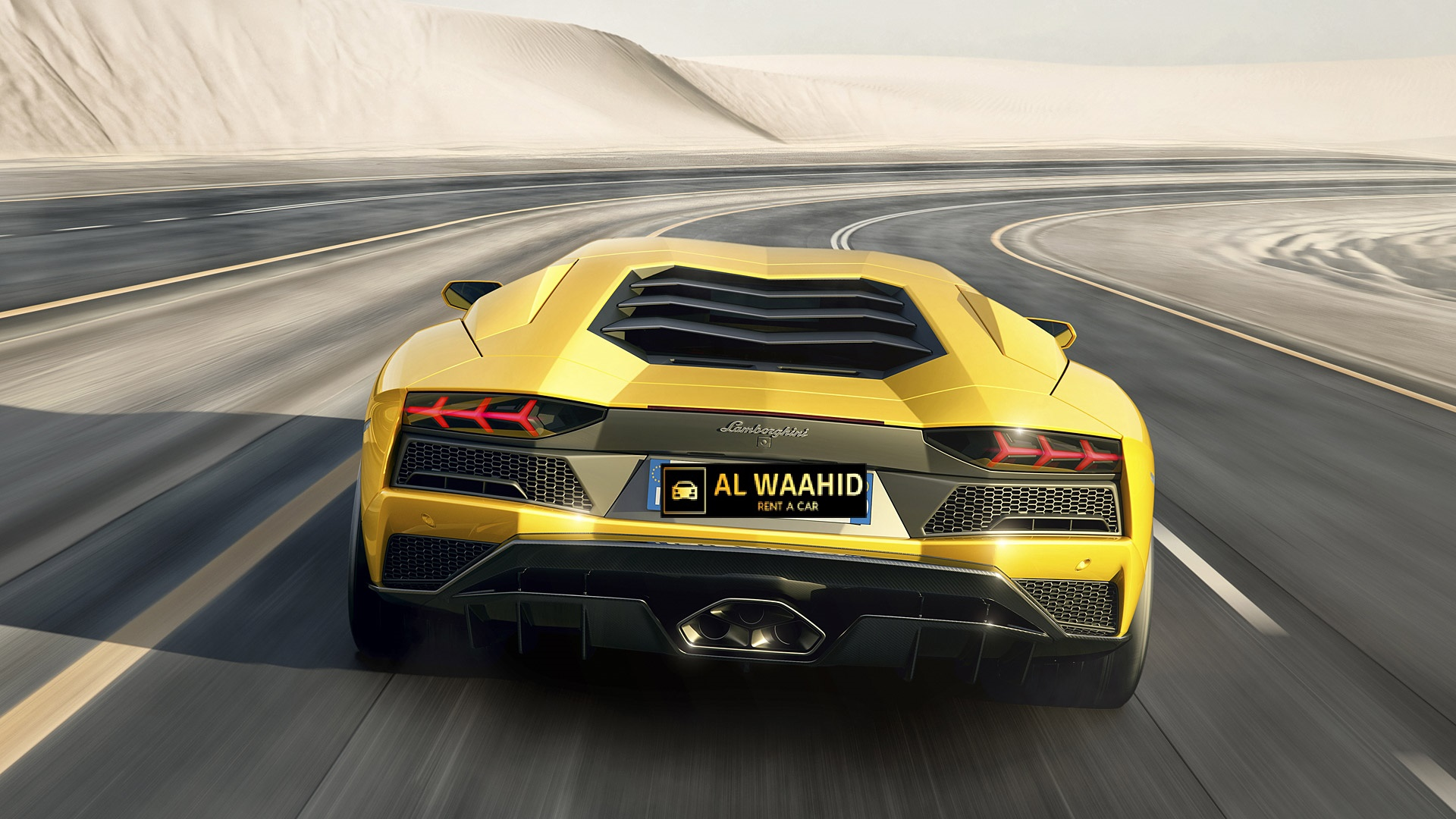 LAMBORGHINI AVENTADOR S luxury car rental dubai