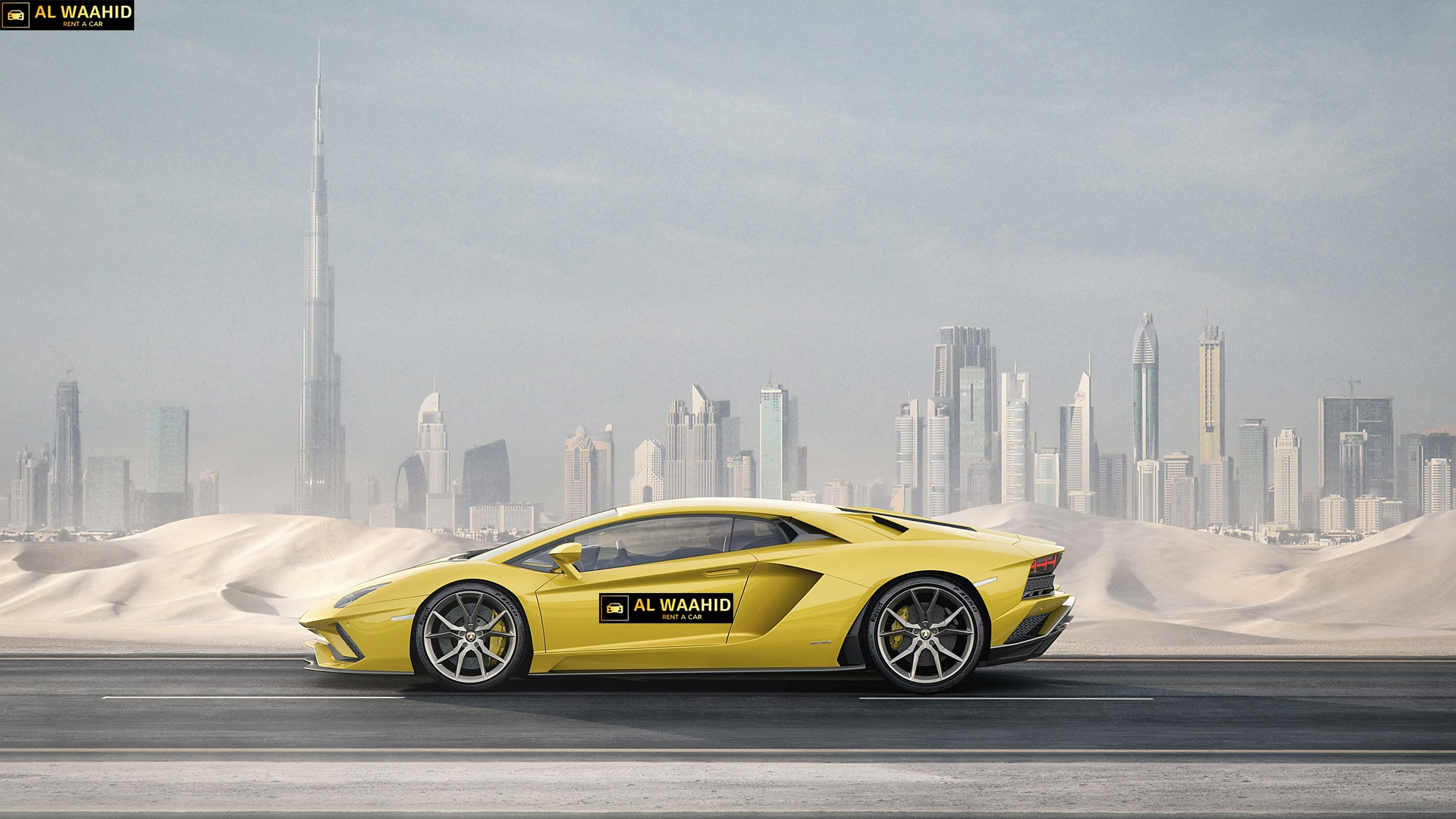 LAMBORGHINI AVENTADOR Sluxury car rental dubai alwaahid rent a car