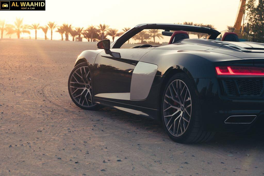 Audi R8 V10 Spyder 2018 luxury car rental dubai