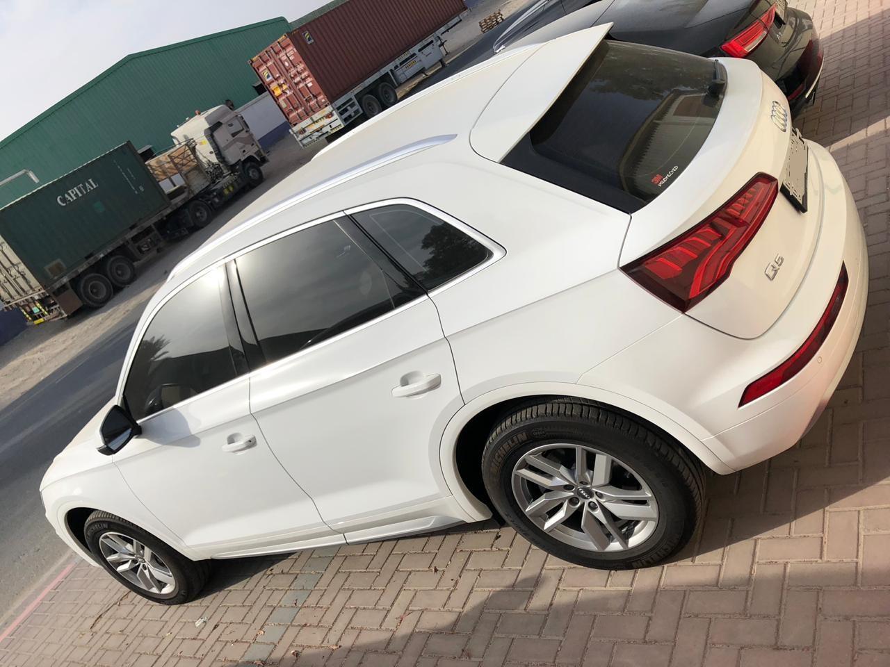 Audi Q5 2018 White rental dubai