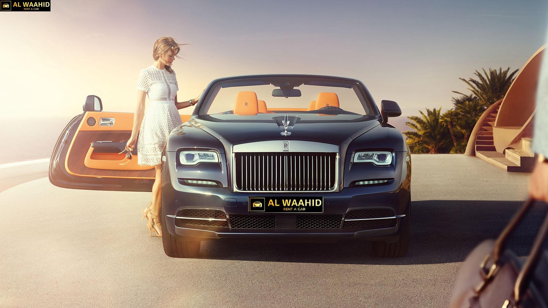 2017Rolls Royce Dawn  luxury car rental dubai alwaahid rent a car