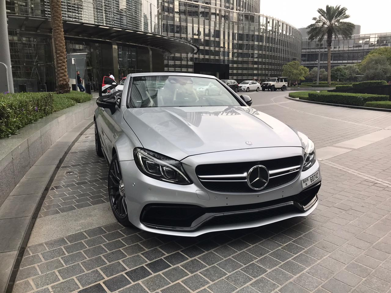 Mercedes C63s convertible Rental Dubai